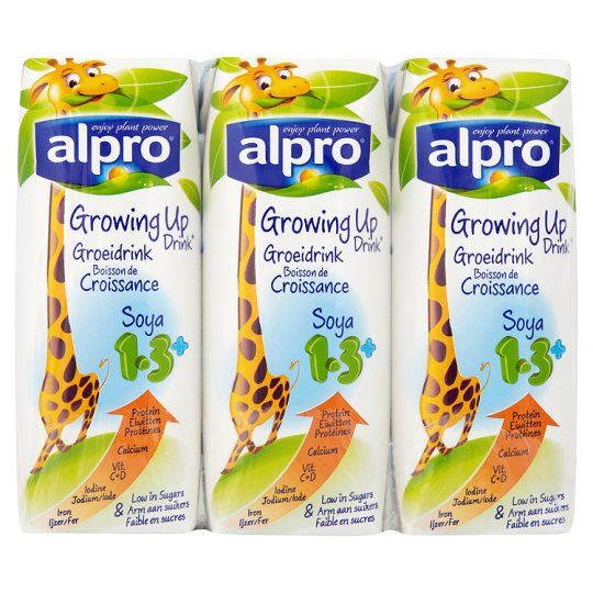 Calories In 100 Ml Of Tesco Alpro Soya Growing Up Drink