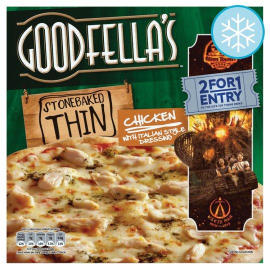 Calories In 100 G Of Tesco Goodfellas Stonebaked Thin