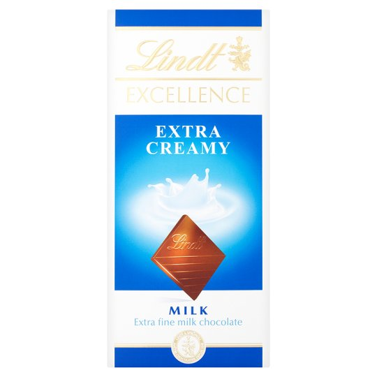 Calories In 100 G Of Tesco Lindt Excellence Extra Creamy